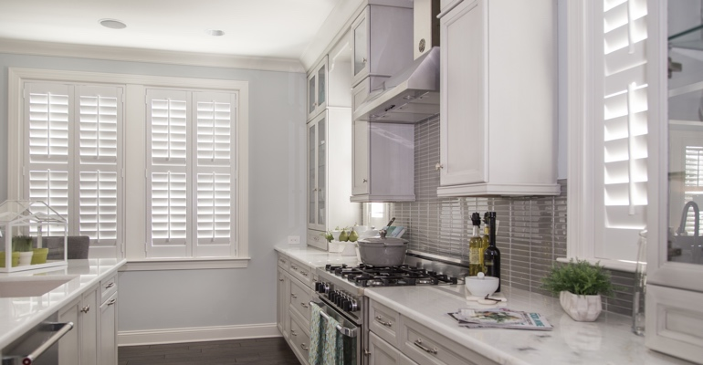 Sacramento kitchen white shutters